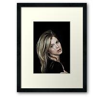 Elle 2 colour Framed Print