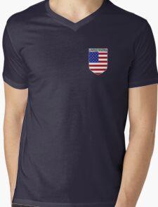 USA EMBLEM Mens V-Neck T-Shirt