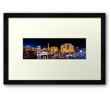Stitched Panorama of the Strip, Las Vegas, Nevada USA Framed Print