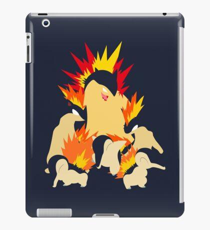 Cyndaquil - Quilava - Typhlosion iPad Case/Skin