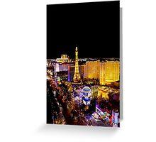 The Strip, at night Las Vegas, Nevada, USA Greeting Card
