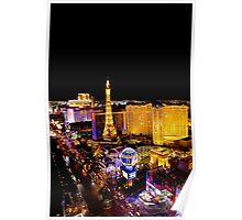 The Strip, at night Las Vegas, Nevada, USA Poster