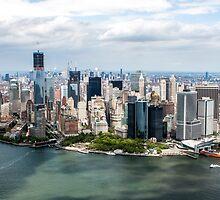 Aerial view of Manhattan, New York City, NY USA  by PhotoStock-Isra