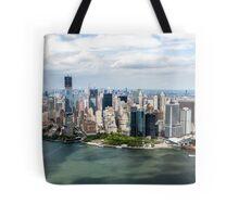 Aerial view of Manhattan, New York City, NY USA  Tote Bag
