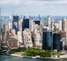 Aerial view of Manhattan, New York City, NY USA  Sticker