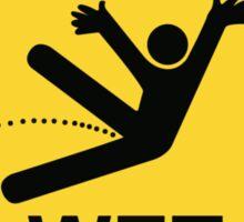 Caution Wet Floor - Spoof / Vandalism Sticker