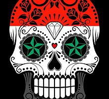 Sugar Skull with Roses and Flag of Syria by Jeff Bartels