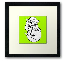 English Bull Terrier Tired Puppy  Framed Print
