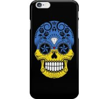Sugar Skull with Roses and Flag of Ukraine iPhone Case/Skin