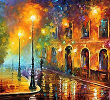 Misty City — Buy Now Link - www.etsy.com/listing/193557657 by Leonid  Afremov