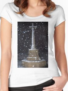 Israel, Jerusalem, Commonwealth World War I cemetery Women's Fitted Scoop T-Shirt