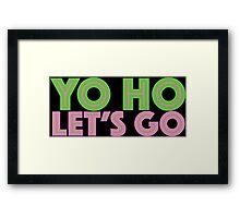 Jake Neverland Pirates Yo Ho Let's Go Framed Print