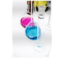 Chemical flasks in Industrial Chemistry Laboratory Poster