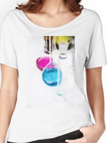 Chemical flasks in Industrial Chemistry Laboratory Women's Relaxed Fit T-Shirt