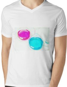 Chemical flasks in Industrial Chemistry Laboratory Mens V-Neck T-Shirt