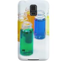 Glass bottles with coloured liquid at a Cosmetics manufacturer Samsung Galaxy Case/Skin