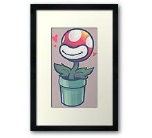 Cute Potted Piranha Plant Framed Print