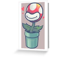 Cute Potted Piranha Plant Greeting Card