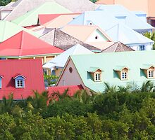 Colorful Roofs of Saint Martin III by Larissa Brea