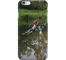 Rope Swing over the Creek. iPhone Case/Skin