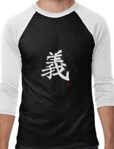 Kanji - Righteousness in white Men's Baseball ¾ T-Shirt