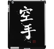 Kanji - Karate in white iPad Case/Skin