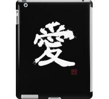Kanji - Love in white iPad Case/Skin