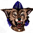Psychobilly Werewolf Color digital painting by graveyardrumble