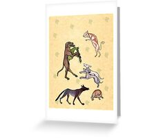 Medieval Dogs Greeting Card