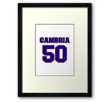 National baseball player Fred Cambria jersey 50 Framed Print