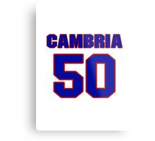 National baseball player Fred Cambria jersey 50 Metal Print