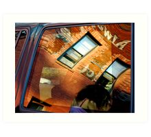 Reflections In Metal and Glass Art Print