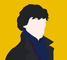 Sherlock Holmes Minimalist by Mary Mathias