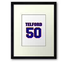 National baseball player Anthony Telford jersey 50 Framed Print