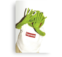 Kermit for Supreme Media Cases, Pillows, and More. Canvas Print