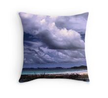 The Pale Blue Sea Throw Pillow