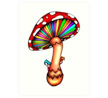 Psychedelic Mushroom Art Print