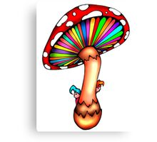 Psychedelic Mushroom Canvas Print
