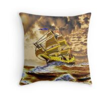Ships of the Line Heading for Battle - all products bar duvet Throw Pillow
