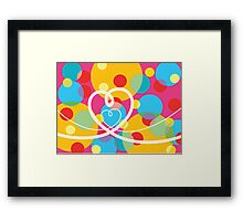 Color Pop Dots and Loopy Hearts  Framed Print