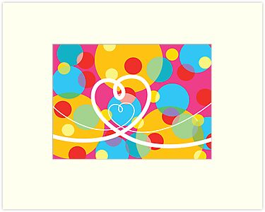 Color Pop Dots and Loopy Hearts  by fatfatin