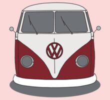 VW Splitwindow Kombi Front Small Kids Tee