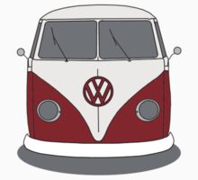 VW Splitwindow Kombi Front Small Kids Clothes