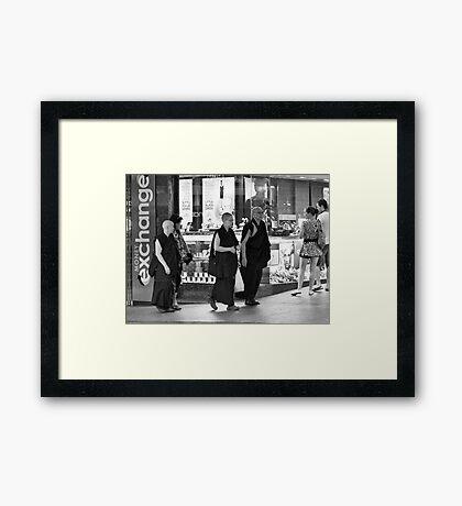 Monks Framed Print