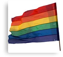 Gay Flag on Transparent background Canvas Print