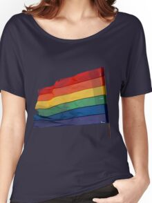 Gay Flag on Transparent background Women's Relaxed Fit T-Shirt