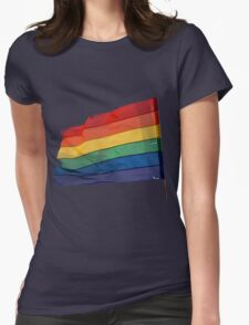 Gay Flag on Transparent background Womens Fitted T-Shirt