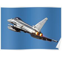 Italian Air force Eurofighter Typhoon in flight Poster