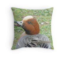 A Joyous Widgeon Throw Pillow