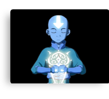 Avatar The Last Airbender Aang's Avatar State With Raava Canvas Print
